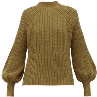 Apiece Apart Sequia Ribbed Cotton-blend Sweater - Khaki