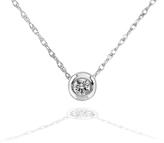 Kobelli Jewelry 0.06 CT TW Diamond 14K White Gold Pendant Necklace