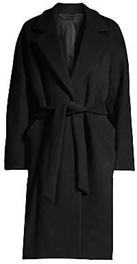 Elie Tahari Women's Calissi Double Face Wool-Blend Wrap Coat
