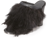 Tibi Bee Feathered Mules