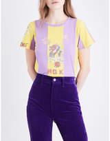Marc Jacobs Ladies Printed Retro Hong Kong Graphic-Print Cotton-Jersey T-Shirt