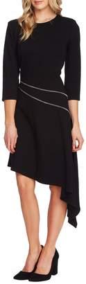 Vince Camuto Asymmetrical Hem Ponte Dress