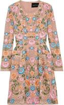 Needle & Thread Lace Foliage Prom Embellished Crepe Mini Dress - UK12