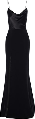 Cinq à Sept Ana Silk Charmeuse-paneled Crepe Gown