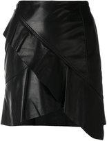 IRO Oyama asymmetric ruffled skirt - women - Lamb Skin/Acetate - 36