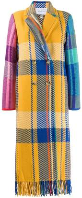 Mira Mikati longline checked coat
