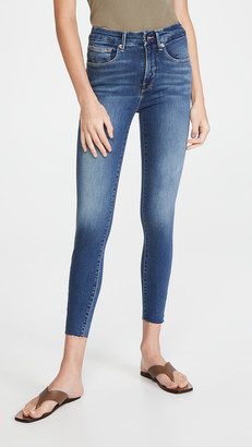 Good American Good Waist Crop Raw Edge Jeans