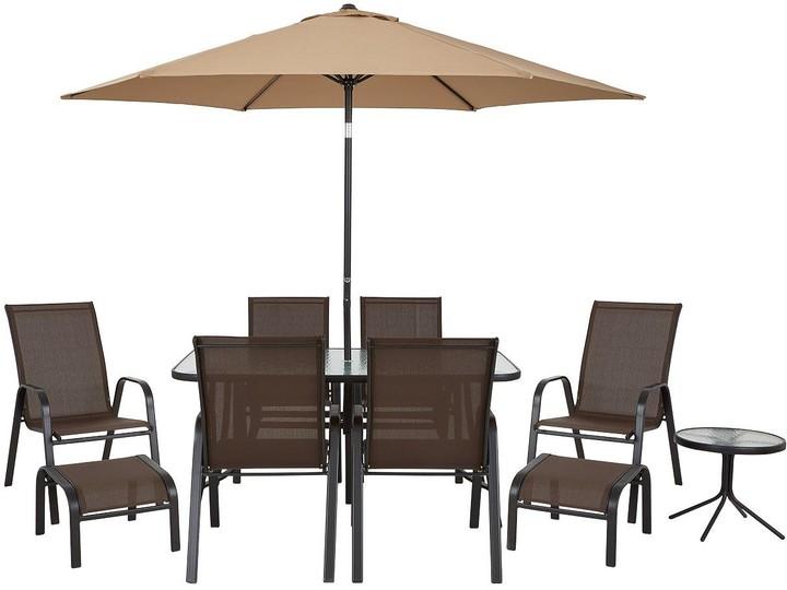 Very Versailles 11-Piece Outdoor Furniture Set - Brown