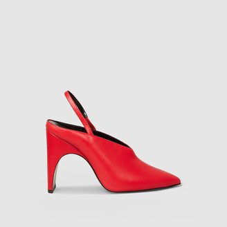 Pierre Hardy Red Jessie Leather Slingback Pumps FR 40.5