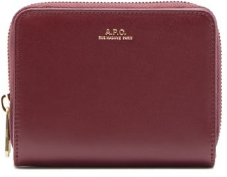 A.P.C. Emmanuelle Zip-around Leather Wallet - Burgundy
