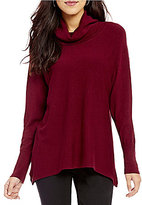 Investments Cowl Neck Long Sleeve Pullover Solid Sweater