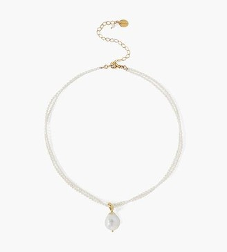 Chan Luu White Pearl Pendant Necklace