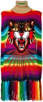 Gucci Angry Cat intarsia striped cape