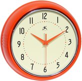 Infinity Instruments Retro Metal Wall Clock