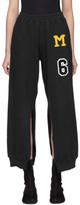 MM6 MAISON MARGIELA Black Patch Split Seam Lounge Pants