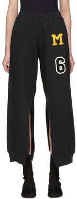 MM6 MAISON MARGIELA Black Patch Split Seam Lounge Pants