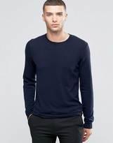 Sisley Crew Neck Jumper In Cashmere Blend