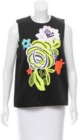 Christopher Kane Lace-Accented Sleeveless Top