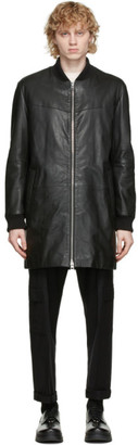 HUGO BOSS Black Leather Larki Jacket