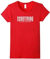 Women's Scootering Like a Sport Only Harder T-Shirt T Shirt Tee Top Small