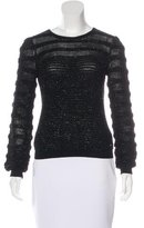 Salvatore Ferragamo Metallic Knit Sweater