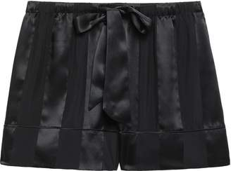 Kiki de Montparnasse Striped Silk-chiffon And Satin Pajama Shorts
