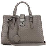 Bottega Veneta Roma Small Intrecciato Leather Shoulder Bag