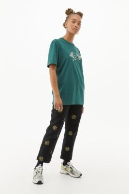 Lazy Oaf X Laura Callaghan Starry Sky T-Shirt - Green XS at Urban Outfitters
