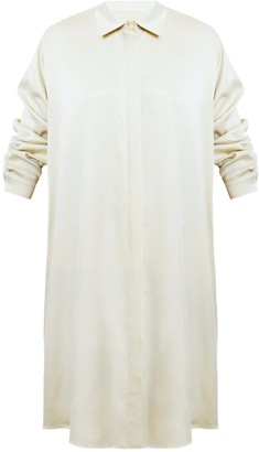 Undress Lila Soft Beige Oversized Midi Shirt Dress