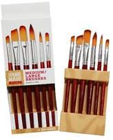 Household Essentials Hand Made Modern - 6ct Med/Lg Paint Brush Set