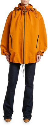 Bottega Veneta Nylon Zip-Front Anorak Blouson Jacket