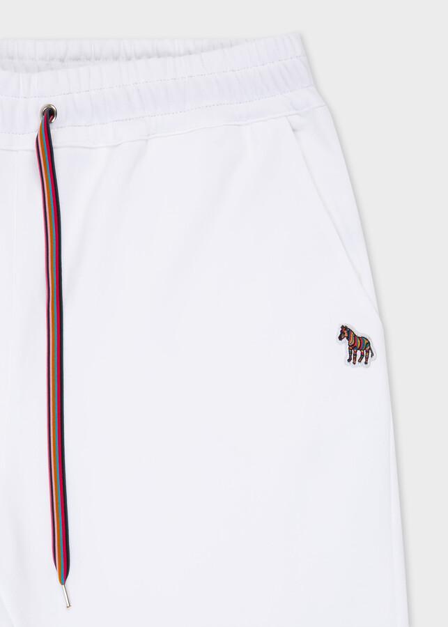 Thumbnail for your product : Paul Smith Women's White Zebra Logo Organic-Cotton Sweatpants