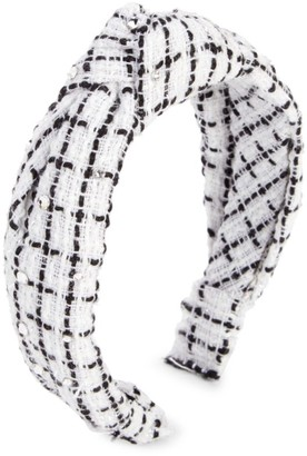 Bari Lynn Girl's Swarovski Crystal & Tweed Knot Headband