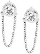 Michael Kors Crystal Convertible Draped Chain Earrings