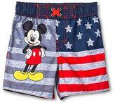 Toddler Boys' Disney Mickey Mouse Swim Trunks Gray