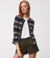LOFT Petite Geo Knit Jacket