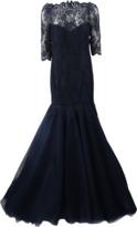 Monique Lhuillier Lace Over Tulle Gown