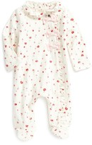 Kate Spade Infant Girl's Ruffle Front Footie
