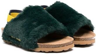 Bobo Choses Slingback Faux-Fur Sandals