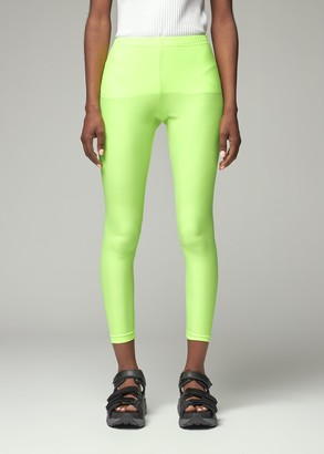 Junya Watanabe Women's Stretched Tricot Neon Tight Pants in Neon Yellow Size 2