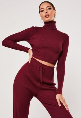 Missguided Co Ord Knitted Crop Top