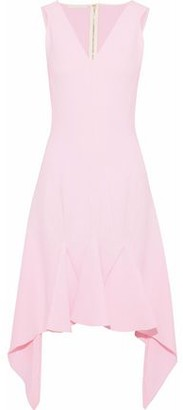 Antonio Berardi Asymmetric Pleated Crepe Dress