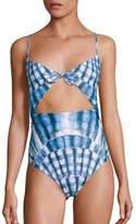 Mara Hoffman One-Piece Tie Front Swimsuit