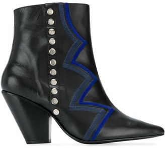 Toga Pulla Zig-Zag Ankle Boots