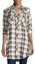 Tolani Tina Long-Sleeve Plaid Tunic