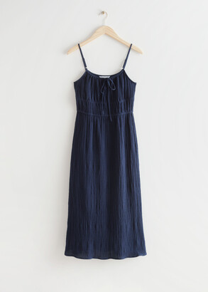 And other stories Strappy Midi Dress