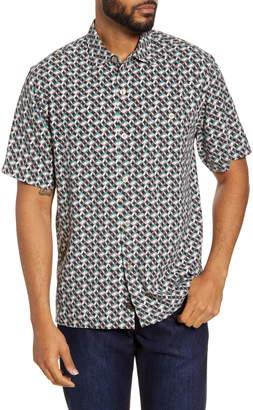 Tommy Bahama Short Sleeve Silk Button-Up Shirt