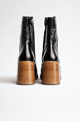 Zadig & Voltaire Star Vintage Patent Boots