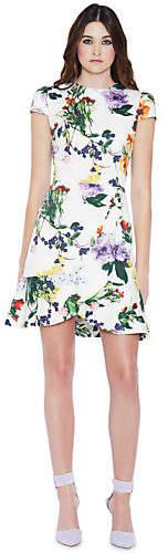 Alice + Olivia (アリス オリビア) - Alice+olivia Kirby Ruffle Short Sleeve Dress