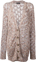 Roberto Collina loose knit cardigan - women - Cotton/Linen/Flax/Viscose/Polyimide - S